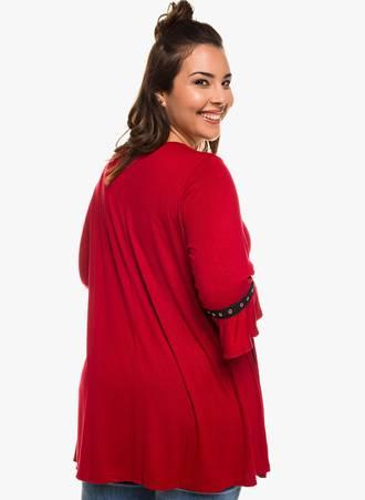 Μπλούζα Κόκκινη με Μανίκι Καμπάνα 0327 Maniags
