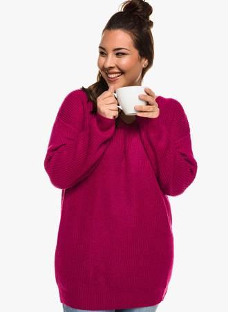 Ροζ Πλεκτή Μπλούζα Maniags
