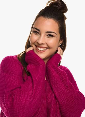Ροζ Πλεκτή Μπλούζα 0340 Maniags