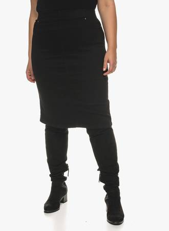 Φούστα Μαύρη Denim 0889 Maniags