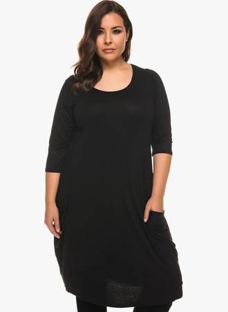 Φόρεμα Βισκόζης με Στρογγυλή Λαιμόκοψη Maniags