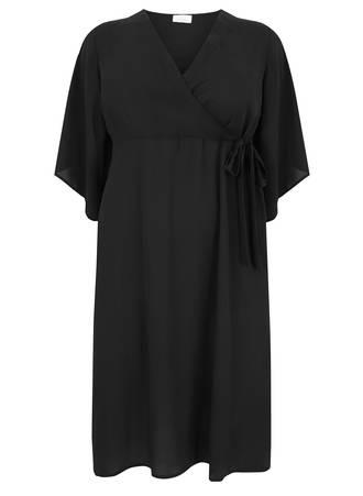 Φόρεμα Μαύρο Σιφόν Maniags