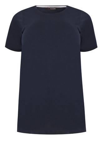 Navy Βαμβακερά Basic T-Shirts Σετ 2 Τεμαχίων 50654-2 Maniags