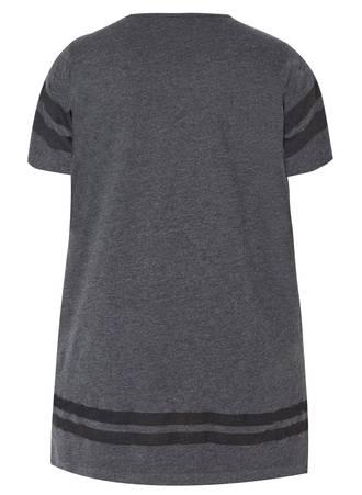 T-Shirt Γκρι με Τύπωμα 50697_2 Maniags