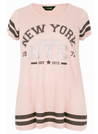 T-Shirt Ροζ με Τύπωμα Maniags