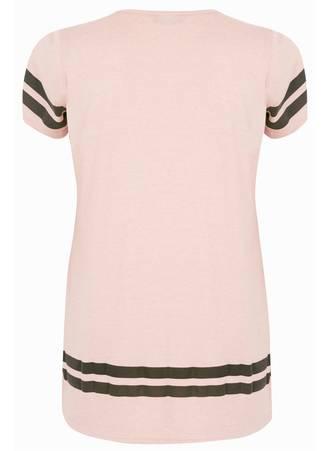 T-Shirt Ροζ με Τύπωμα 50698_2 Maniags