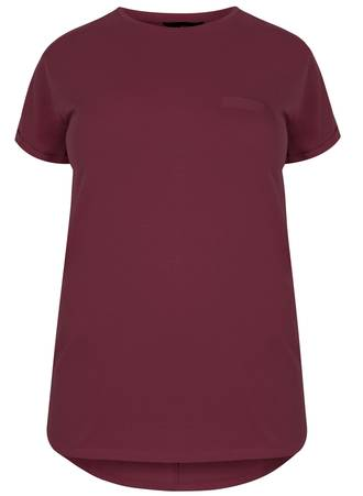 T-Shirt Basic Burgundy Maniags