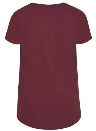 T-Shirt Basic Burgundy 50700_2 Maniags
