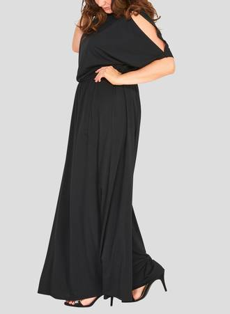 Μάξι Φόρεμα με Μανίκι Νυχτερίδα 50726_2 Maniags
