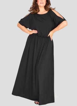 Μάξι Φόρεμα με Μανίκι Νυχτερίδα Maniags