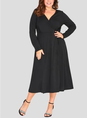 Φόρεμα Jersey Μαύρο Κρουαζέ Maniags