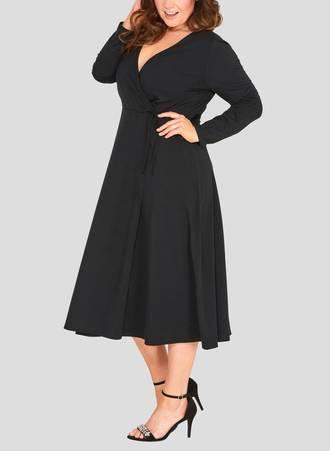 Φόρεμα Jersey Μαύρο Κρουαζέ 50727_4 Maniags