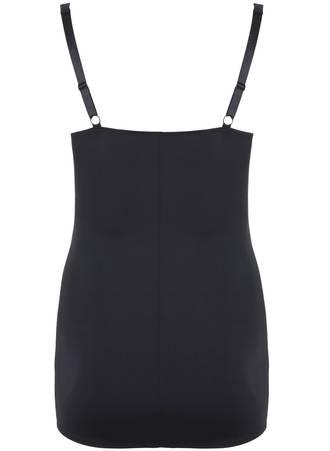 Κορσές Φόρεμα Μαύρο με Τιράντες 50761-2 Maniags