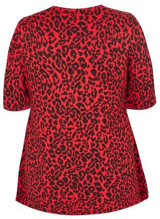 Μπλούζα Κόκκινη Λεοπάρ 50782-6 Maniags