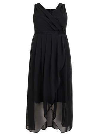 Φόρεμα Αμάνικο Κρουαζέ Μουσελίνας Maniags