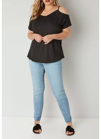 Μαύρη Μπλούζα Cold Shoulder Black_Cold_Shoulder_Jersey_Top_132627_2c86 Maniags