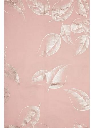 Φουλάρι Ροζ με Μεταλλική Λεπτομέρεια Pink_Foil_Leaf_Print_Scarf_152472_a24d Maniags