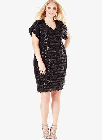 Μπλουζοφόρεμα Μαύρη Παγιέτα 0026_9tx2-8o Maniags