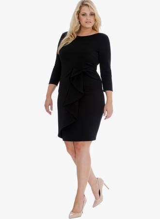 Φόρεμα Midi Μαύρο 0029 Maniags