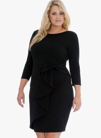 Φόρεμα Midi Μαύρο Maniags