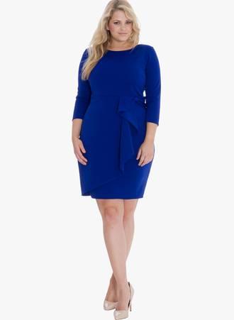 Φόρεμα Midi Royal Blue 0035 Maniags