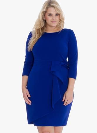 Φόρεμα Midi Royal Blue Maniags