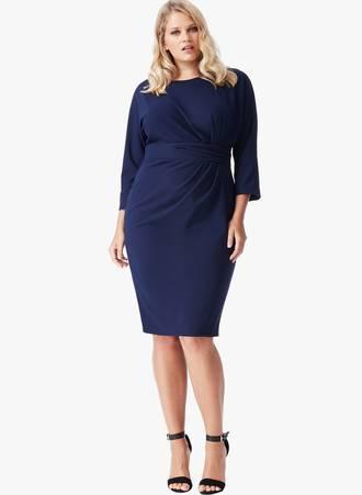 Φόρεμα Navy 3/4 Μανίκι 0041_sfqq-d0 Maniags