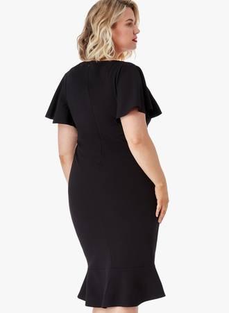 Φόρεμα Midi Μαύρο 0049 Maniags