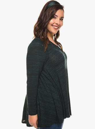 Ασύμμετρη Μπλούζα V Λαιμόκοψη (Πράσινη) 0127 Maniags