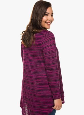 Ασύμμετρη Μπλούζα V Λαιμόκοψη (Ροζ Σκούρο) 0135 Maniags