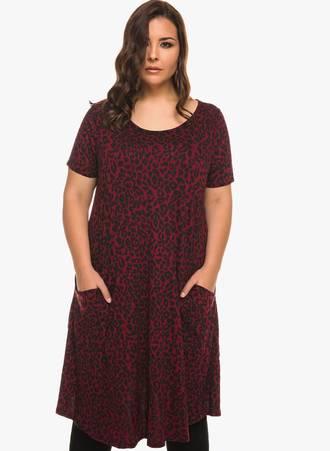 Φόρεμα Animal Print Μπορντώ 0926 Maniags