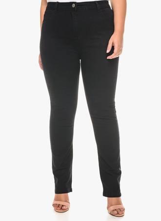 Τζιν Παντελόνι Μαύρο Straight Leg Maniags