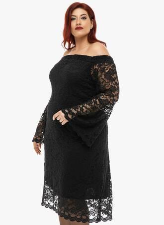 Φόρεμα Μαύρο Έξωμο Δαντέλα 2019_12_11-Maniags5060 Maniags