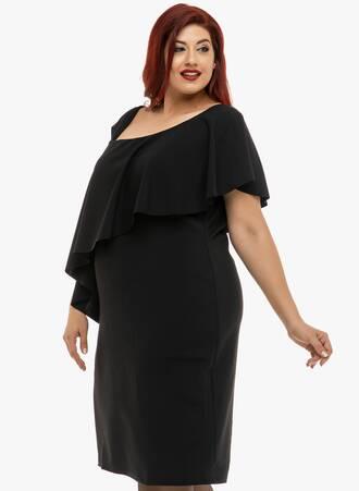 Φόρεμα Μαύρο με Βολάν 2019_12_11-Maniags5300 Maniags