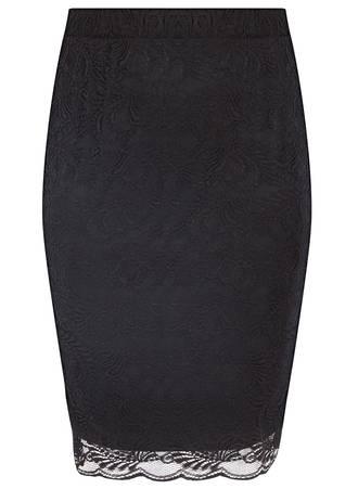 Φούστα Ελαστική Pencil Δαντέλα 50543-8 Maniags
