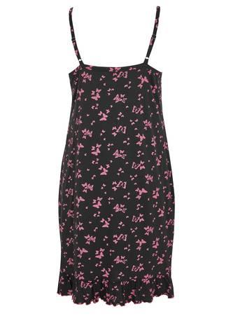 Νυχτικό Μαύρο με Φούξια Πεταλούδες 50681_2 Maniags