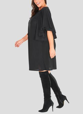 Φόρεμα Midi με Βολάν στο Μανίκι 50803b_2 Maniags