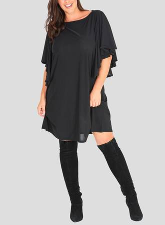 Φόρεμα Midi με Βολάν στο Μανίκι Maniags