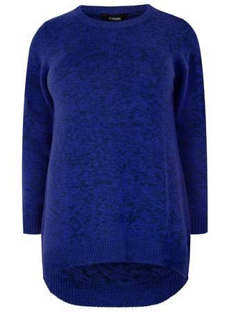 Μπλούζα Πλεκτή σε Μαύρο-Μπλε Χρώμα Maniags