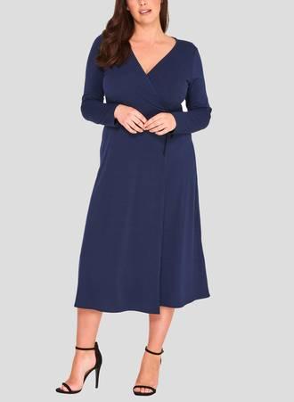 Φόρεμα Κρουαζέ Navy 50860_2 Maniags