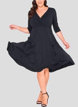 Φόρεμα Κρουαζέ 3/4 μανίκι Maniags