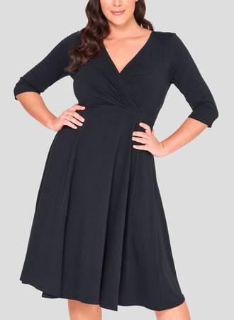 Φόρεμα Κρουαζέ 3/4 μανίκι 50863_3 Maniags