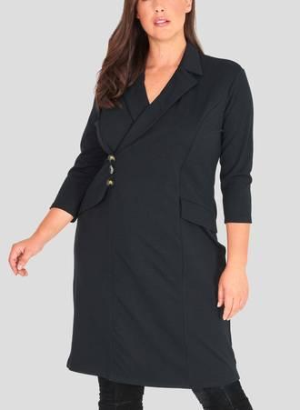 Σακάκι Φόρεμα Midi Μαύρο Maniags