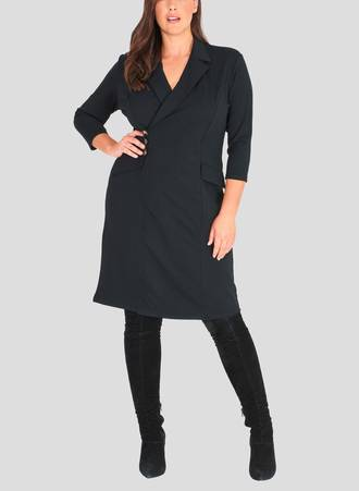 Σακάκι Φόρεμα Midi Μαύρο 50926-2 Maniags
