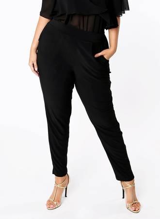 Ελαστικό Μαύρο Παντελόνι Maniags