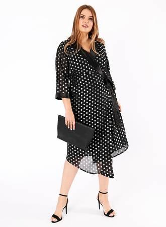 Μαύρο Φόρεμα με Ασημί Πουά maya15101824634-_1_ Maniags