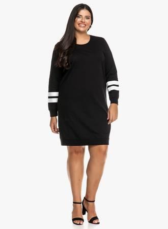 Μπλουζοφόρεμα Μαύρο με Λευκές Λεπτομέρειες 2019_09_19-Maniags0851 Maniags