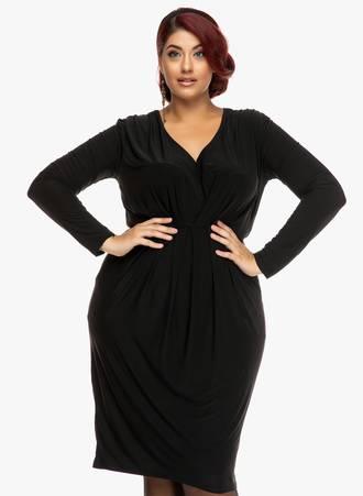 Φόρεμα Μαύρο Ζέρσεϋ Maniags