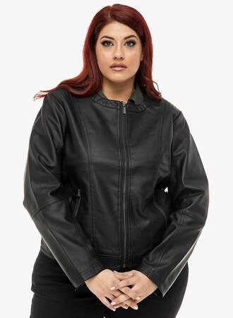 Jacket με Δερμάτινη Όψη 2019_12_13-Maniags1103 Maniags