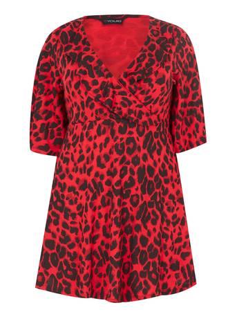Μπλούζα Κόκκινη Animal Print Maniags